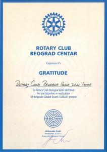 RC BEOGRAD CENTER GRATITUDE
