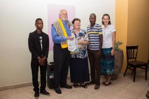 Presidente Internazionale RI Barry Rassin alla presentazione del Progetto GG a Maputo Mozambico