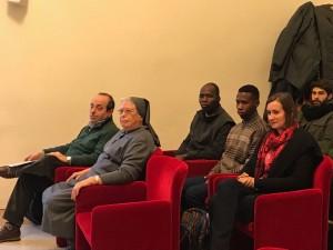 Suora Laura Girotto, Assistente Domenico Lo Bianco Conferenza Stampa Comune Bologna