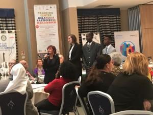 Corsisti Mozambicani durante la serata inaugurale del Global Grant