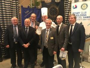 Governatore Maurizio Marcialis e Presidenti Felsinei durante la Serata Celebrativa Global Grant, 8 Marzo presso Savoia Regency Hotel