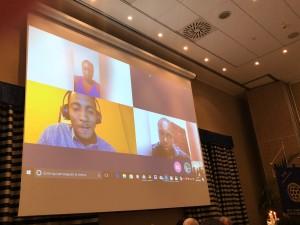 Conference call con Mozambico durante la serata inaugurale
