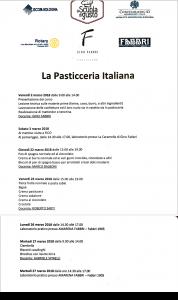 Programma Corso Pasticceria Italiana